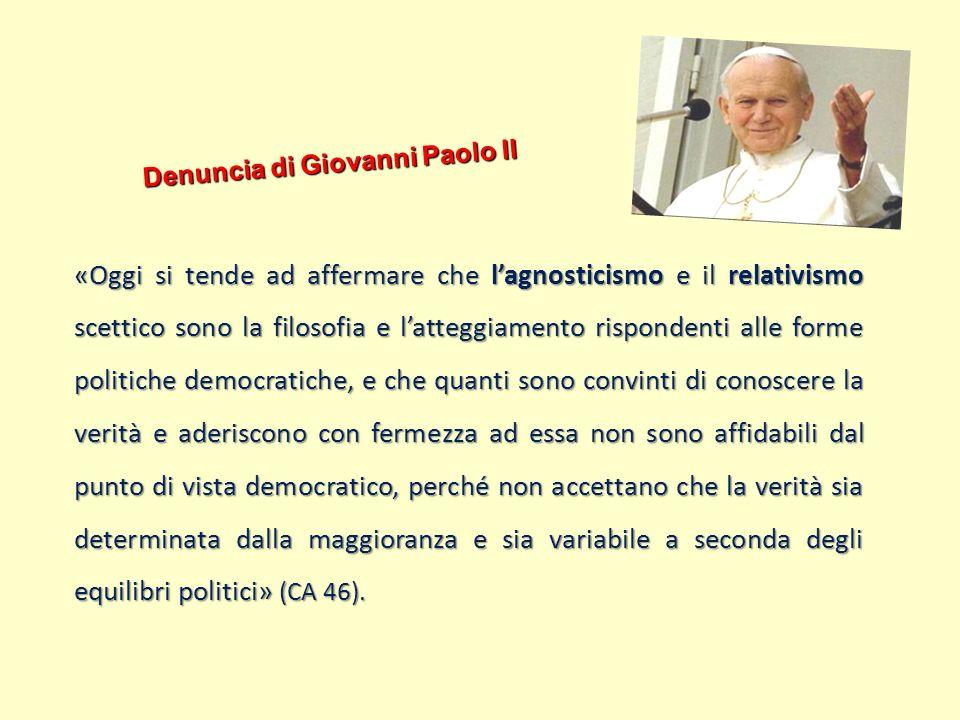 Denuncia di Giovanni Paolo II
