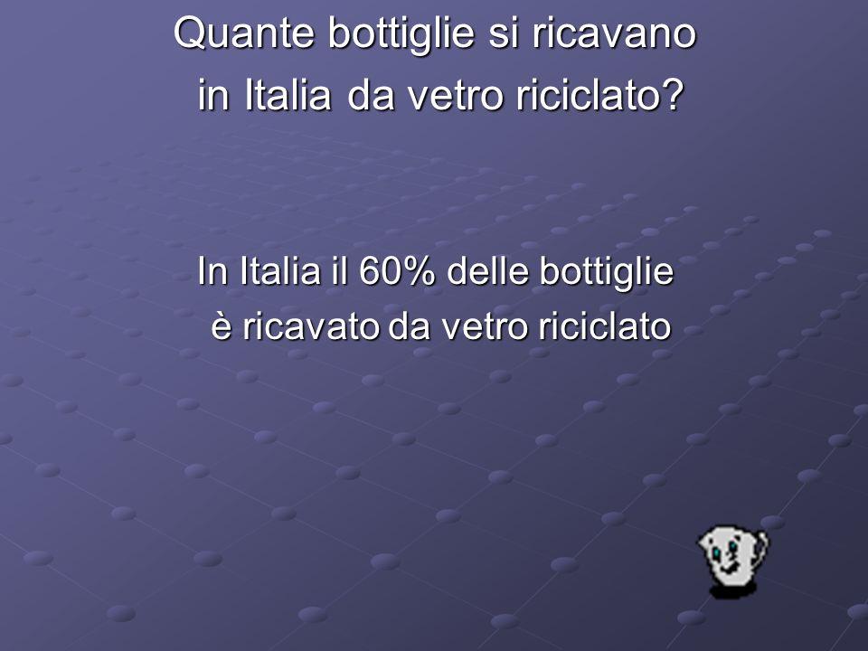 Quante bottiglie si ricavano in Italia da vetro riciclato