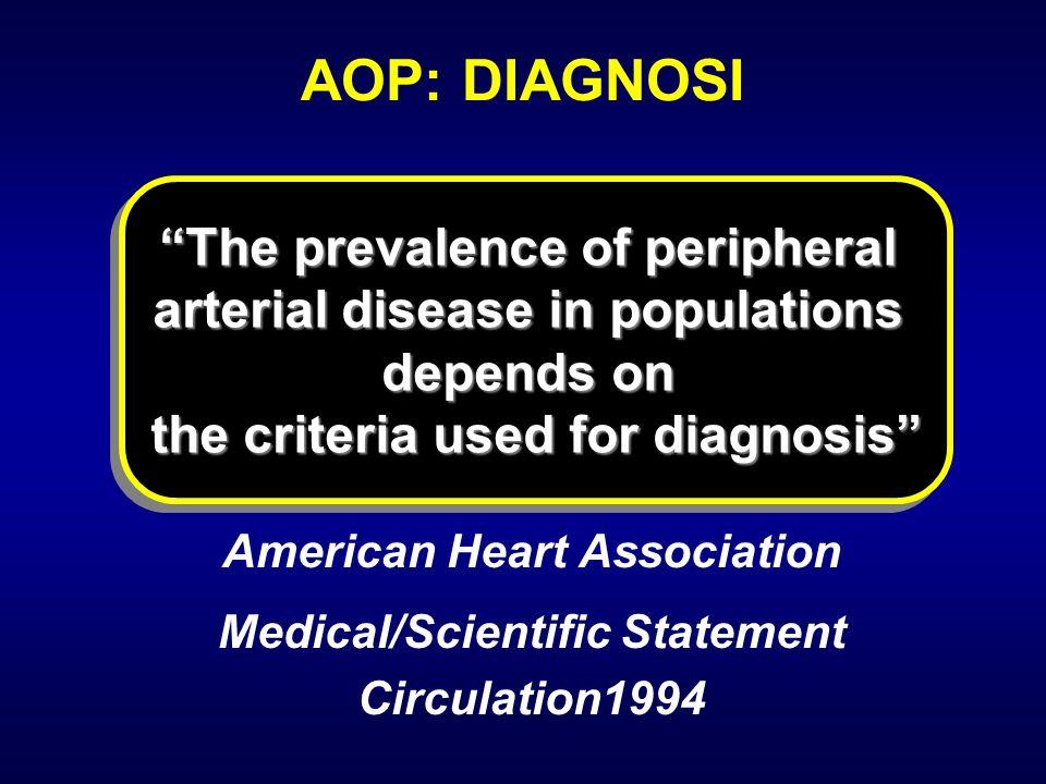 AOP: DIAGNOSI The prevalence of peripheral