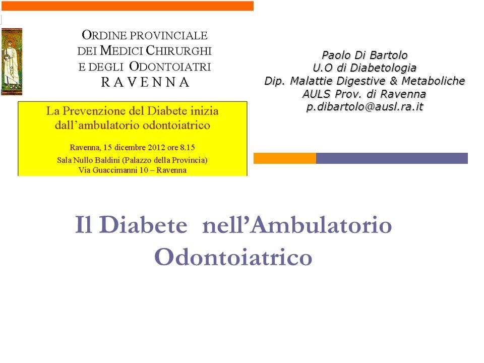 Il Diabete nell'Ambulatorio Odontoiatrico