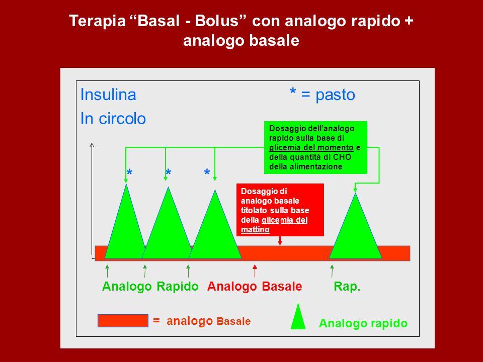 Terapia Basal - Bolus con analogo rapido + analogo basale