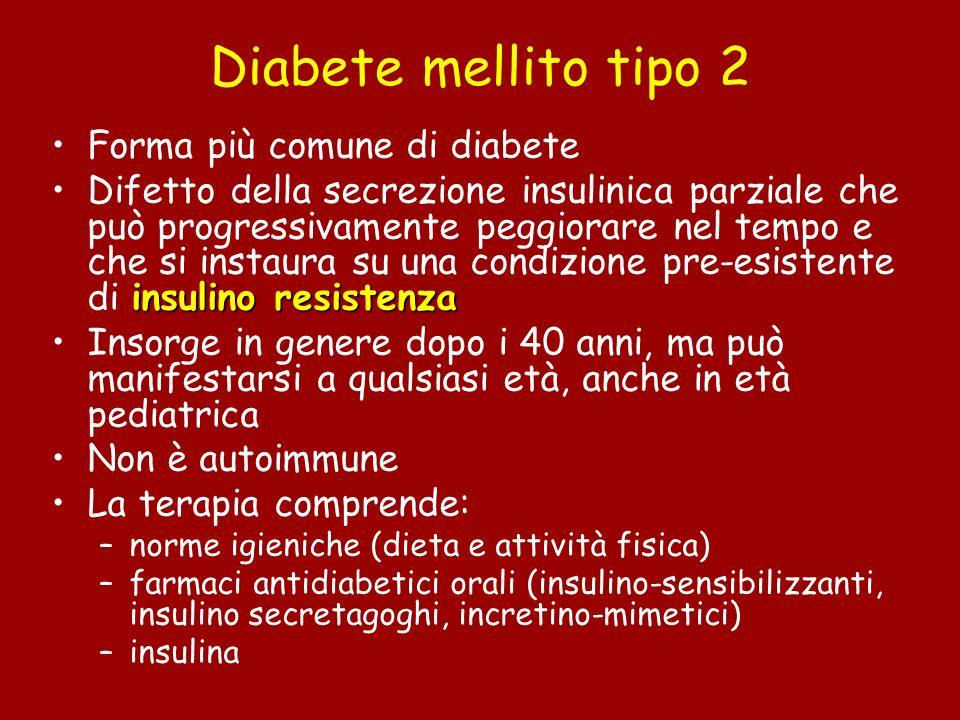 Diabete mellito tipo 2 Forma più comune di diabete