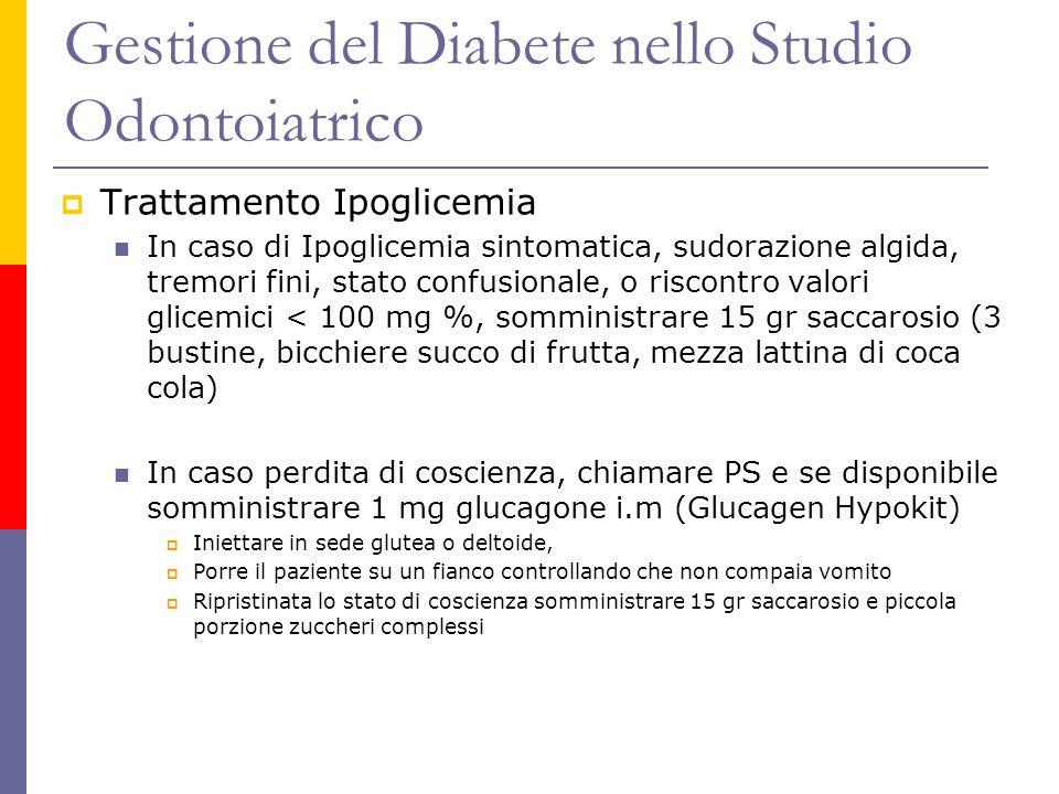 Gestione del Diabete nello Studio Odontoiatrico