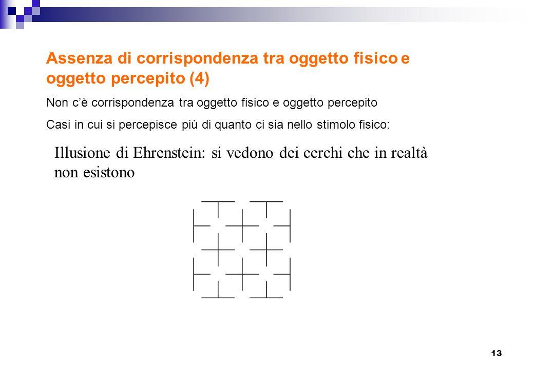 Assenza di corrispondenza tra oggetto fisico e oggetto percepito (4)