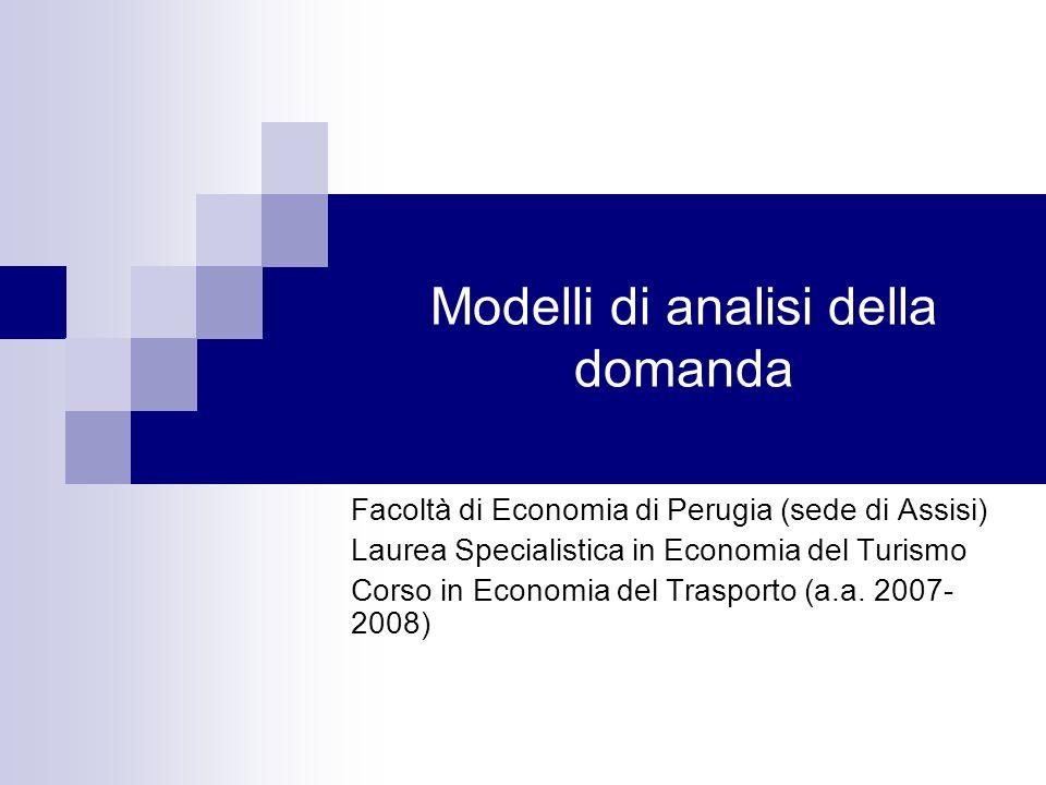 Modelli di analisi della domanda