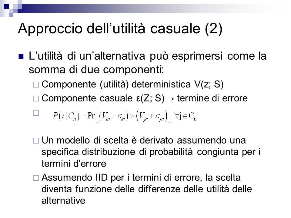 Approccio dell'utilità casuale (2)