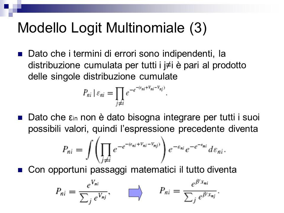Modello Logit Multinomiale (3)