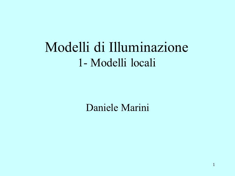 Modelli di Illuminazione 1- Modelli locali