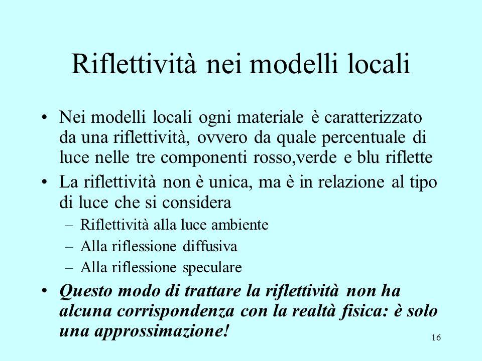 Riflettività nei modelli locali