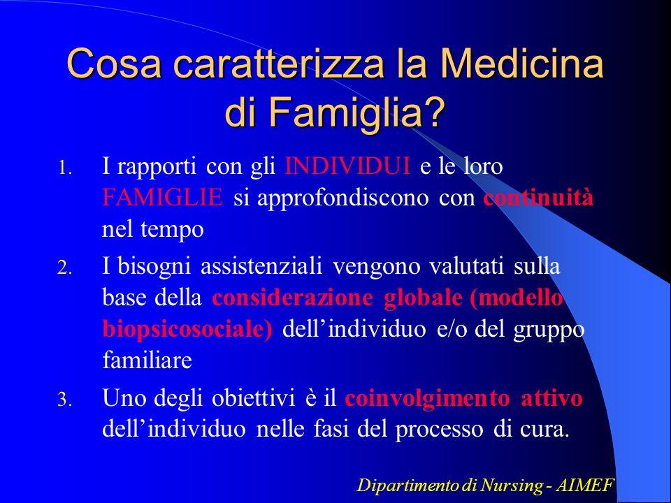 Cosa caratterizza la Medicina di Famiglia