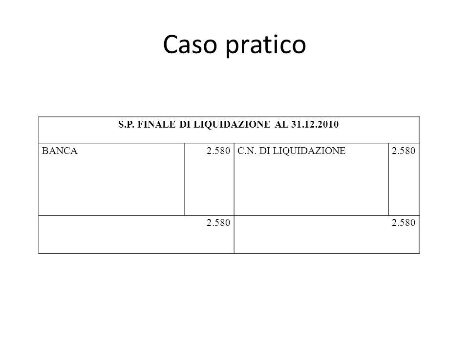 S.P. FINALE DI LIQUIDAZIONE AL 31.12.2010