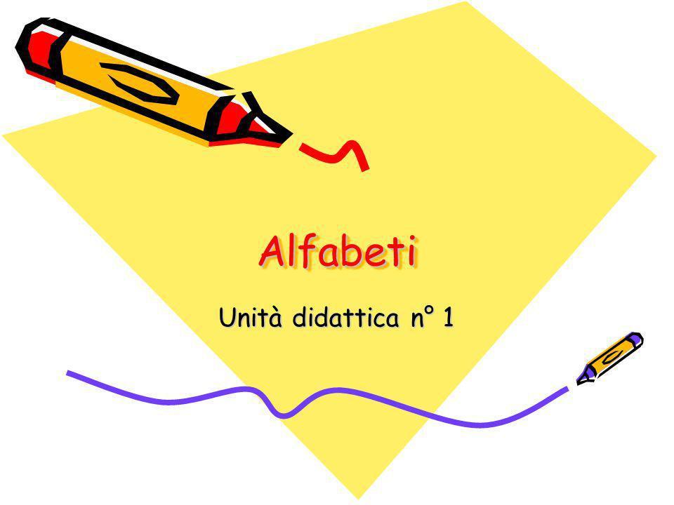 Alfabeti Unità didattica n° 1