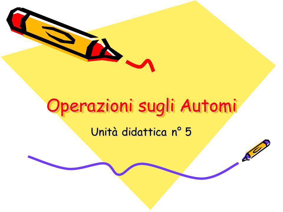 Operazioni sugli Automi