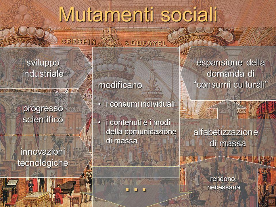 … Mutamenti sociali sviluppo