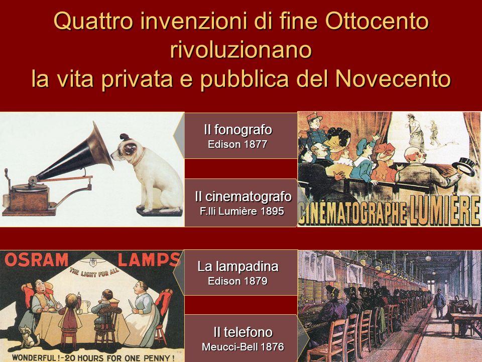 Quattro invenzioni di fine Ottocento rivoluzionano la vita privata e pubblica del Novecento
