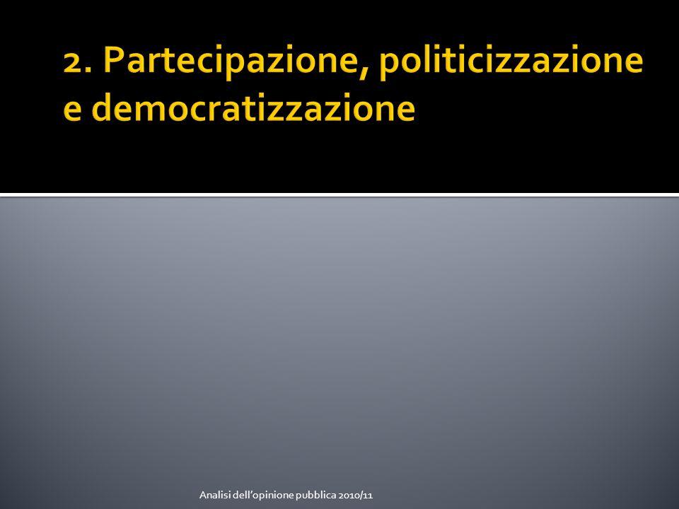 2. Partecipazione, politicizzazione e democratizzazione