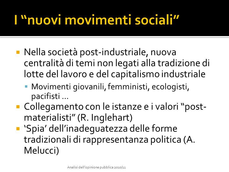 I nuovi movimenti sociali