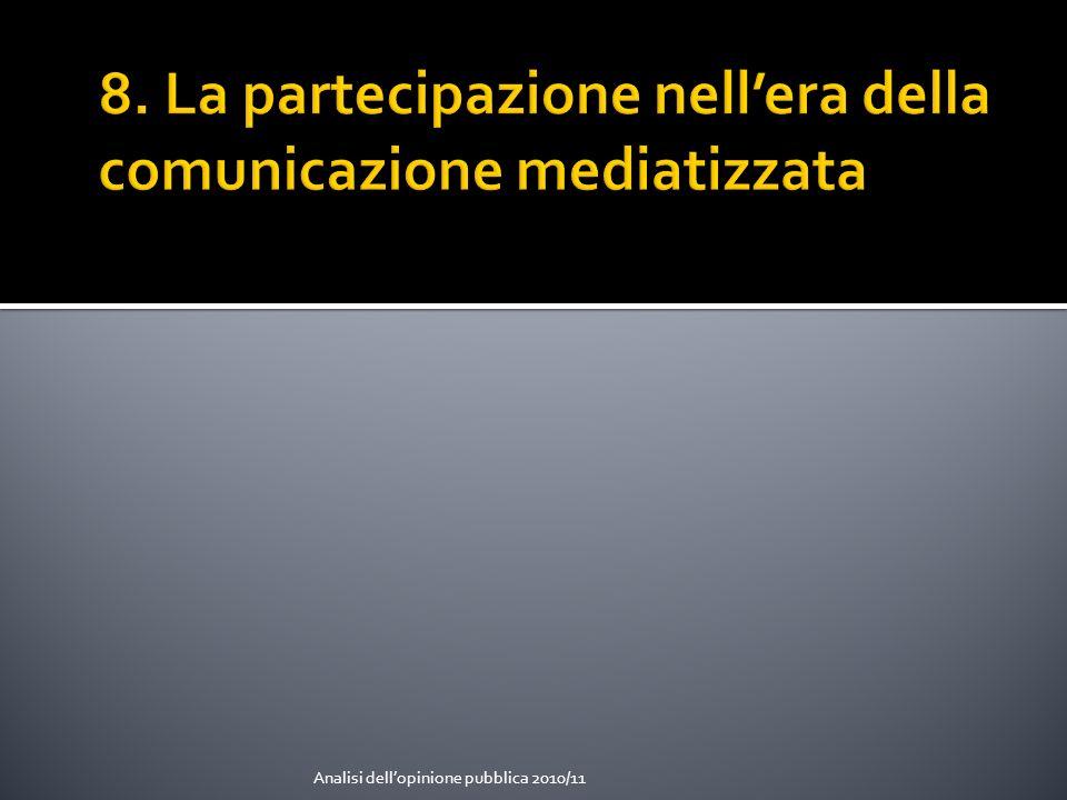8. La partecipazione nell'era della comunicazione mediatizzata