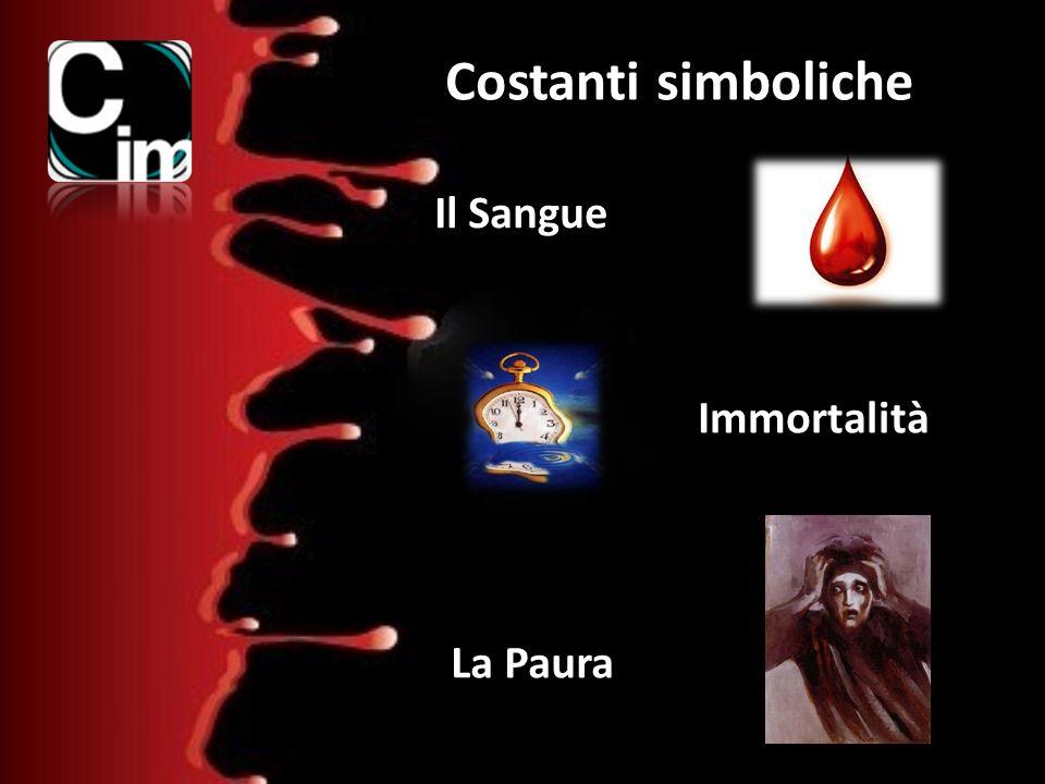 Costanti simboliche Il Sangue Immortalità La Paura