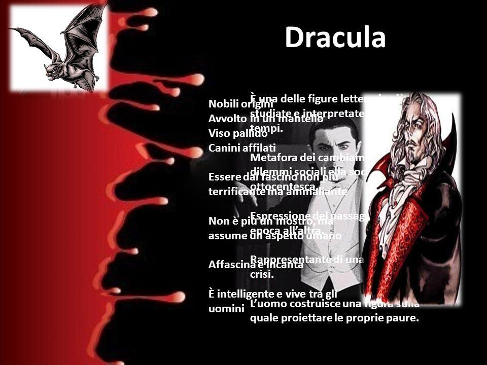 Dracula È una delle figure letterarie più studiate e interpretate di tutti i tempi.