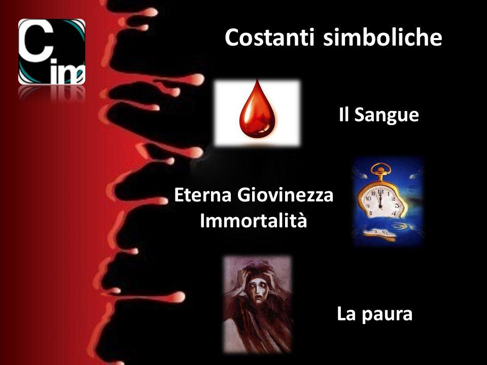 Costanti simboliche Il Sangue Eterna Giovinezza Immortalità La paura