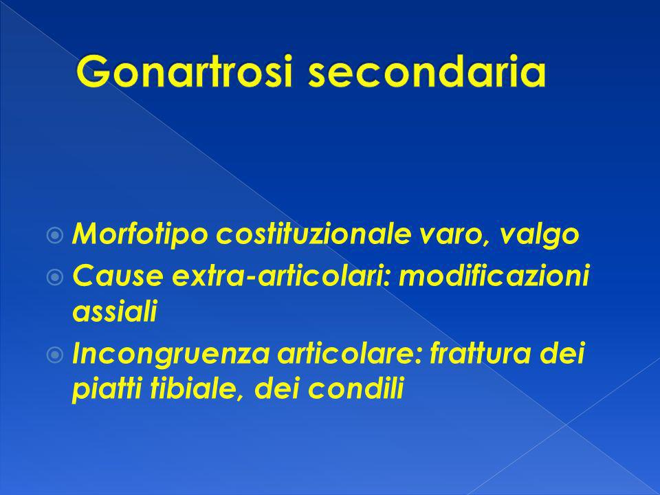 Gonartrosi secondaria