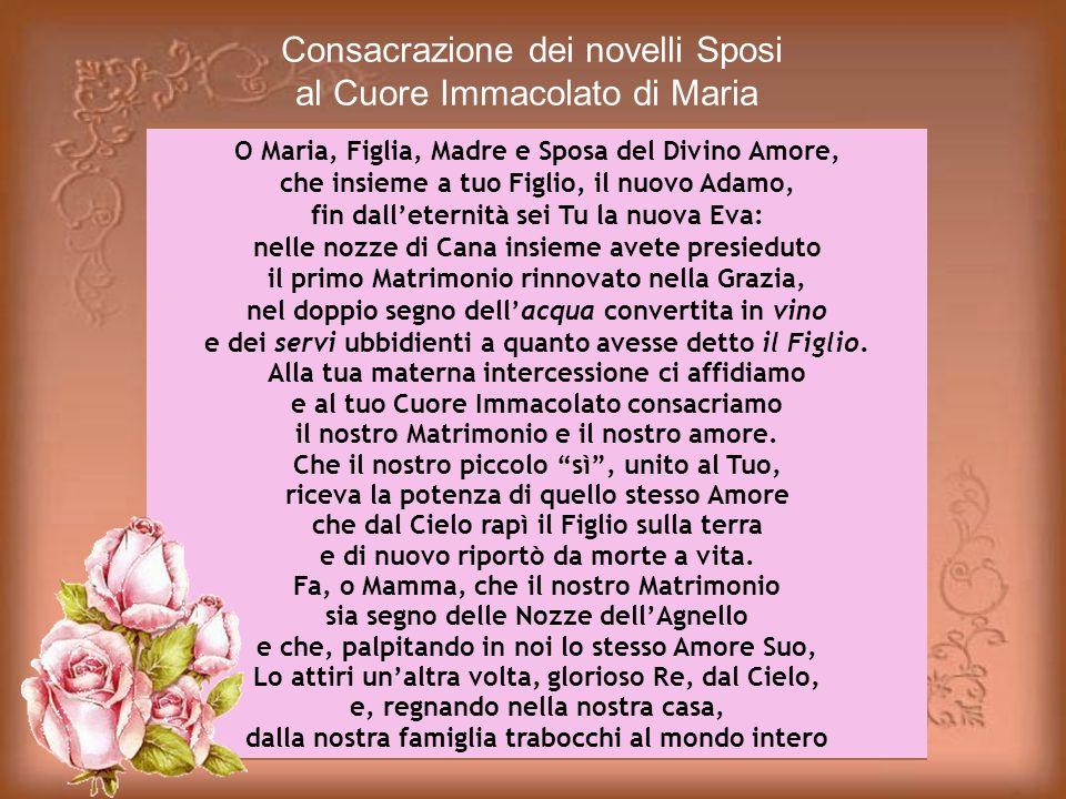 Consacrazione dei novelli Sposi al Cuore Immacolato di Maria