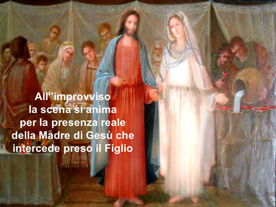 della Madre di Gesù che intercede preso il Figlio