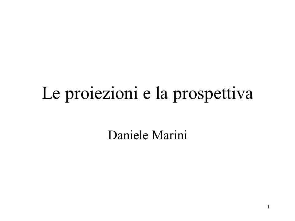 Le proiezioni e la prospettiva