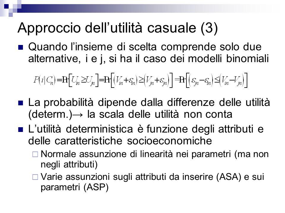 Approccio dell'utilità casuale (3)