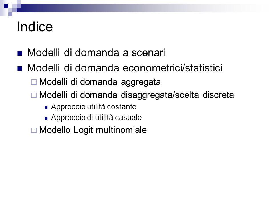 Indice Modelli di domanda a scenari