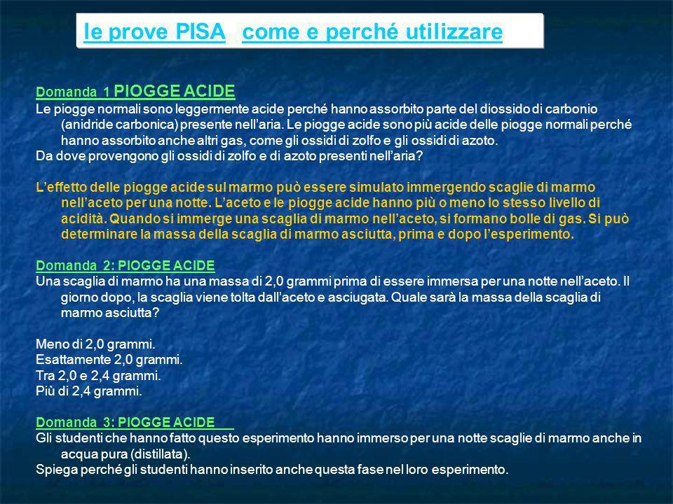 le prove PISA: come e perché utilizzare
