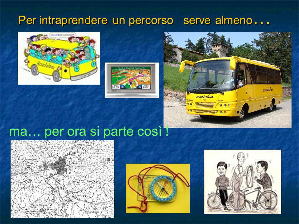 Per intraprendere un percorso serve almeno…