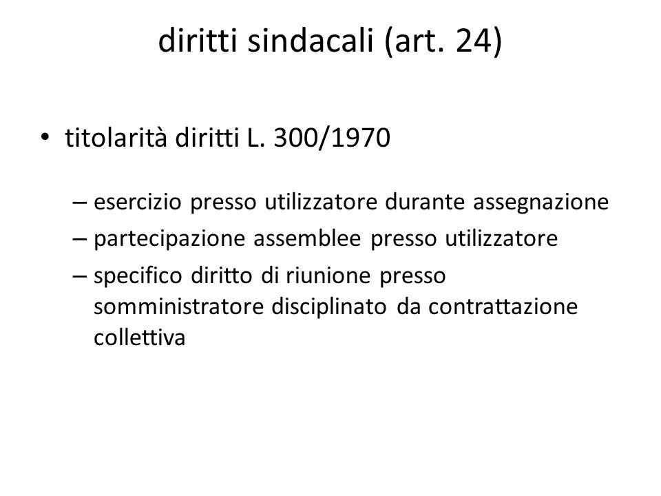 diritti sindacali (art. 24)