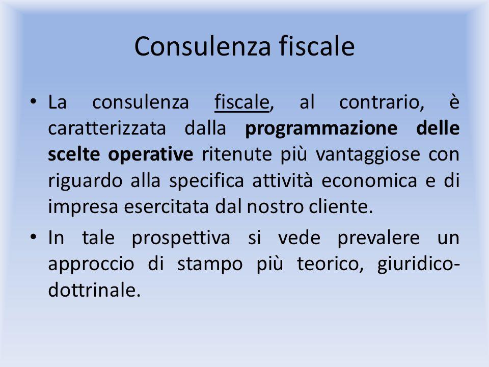 Consulenza fiscale