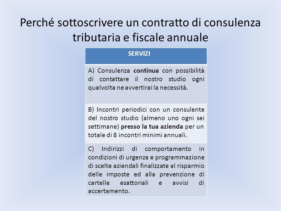 Perché sottoscrivere un contratto di consulenza tributaria e fiscale annuale