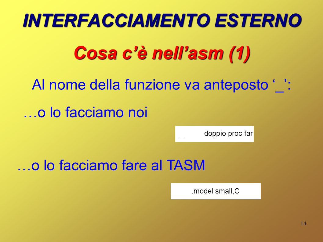 Interfacciamento Assembly C Ppt Scaricare