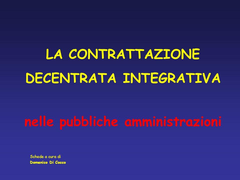 DECENTRATA INTEGRATIVA nelle pubbliche amministrazioni