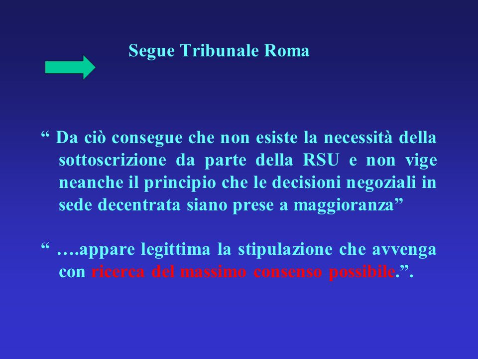 Segue Tribunale Roma