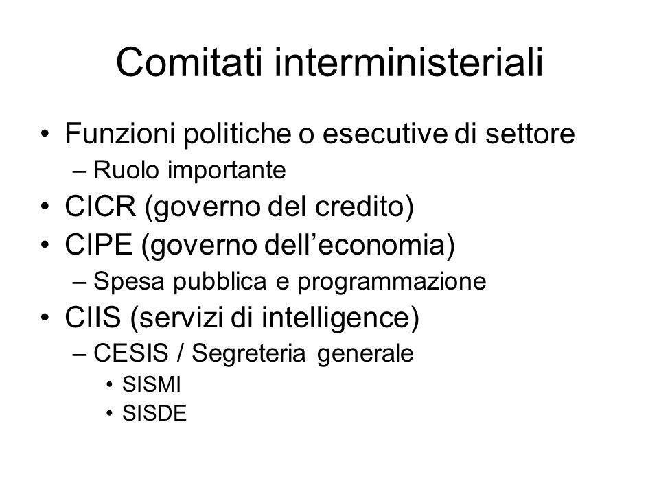 Comitati interministeriali