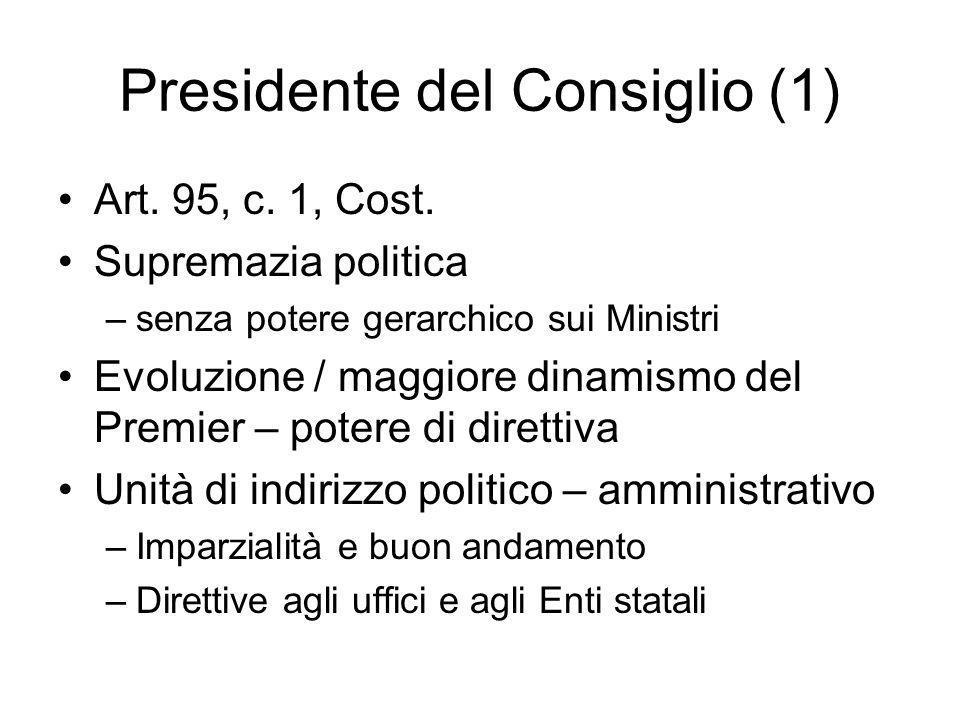 Presidente del Consiglio (1)