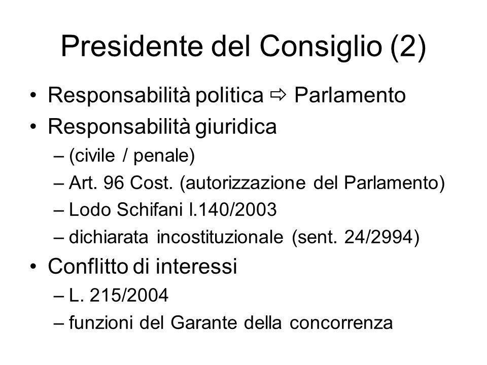 Presidente del Consiglio (2)