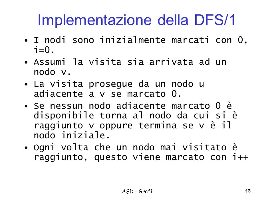 Implementazione della DFS/1