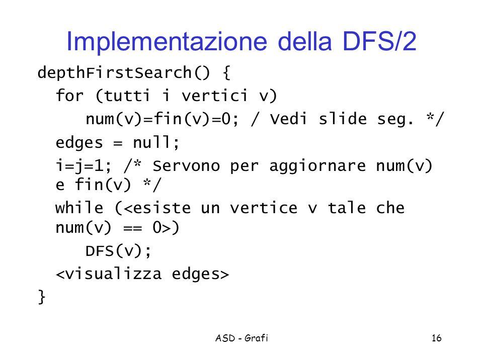 Implementazione della DFS/2