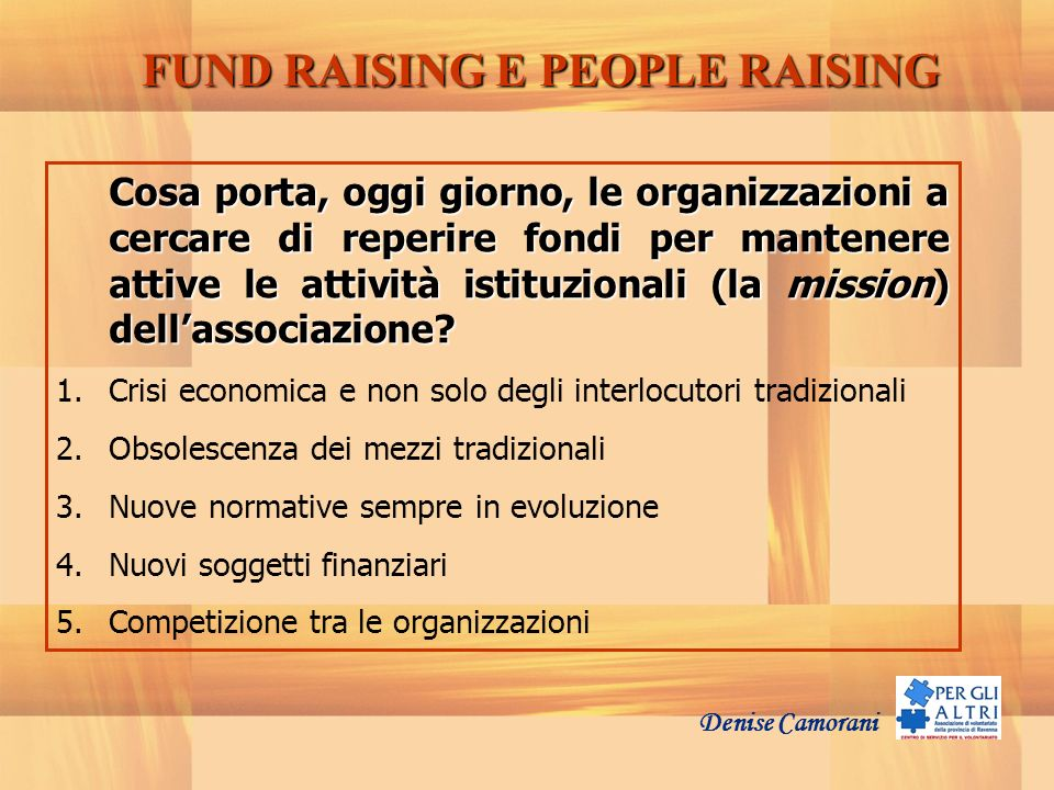 FUND RAISING E PEOPLE RAISING