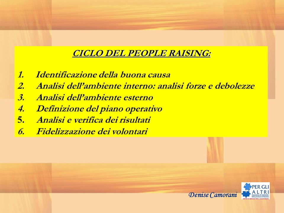 CICLO DEL PEOPLE RAISING: