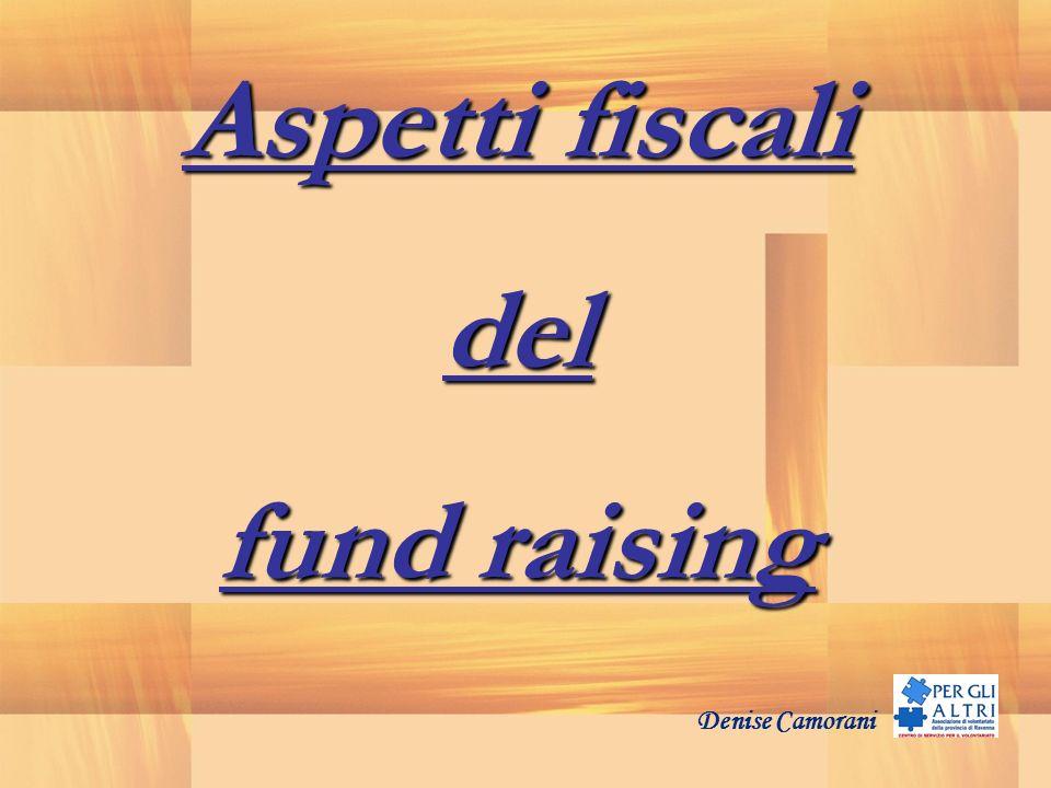 Aspetti fiscali del fund raising