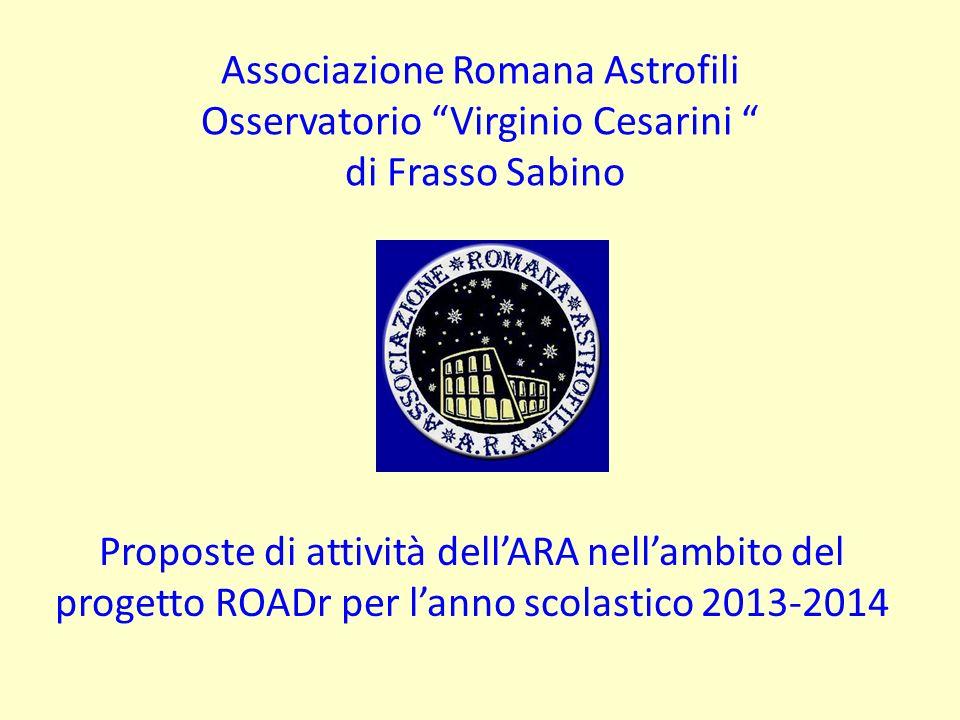 Associazione Romana Astrofili Osservatorio Virginio Cesarini di Frasso Sabino