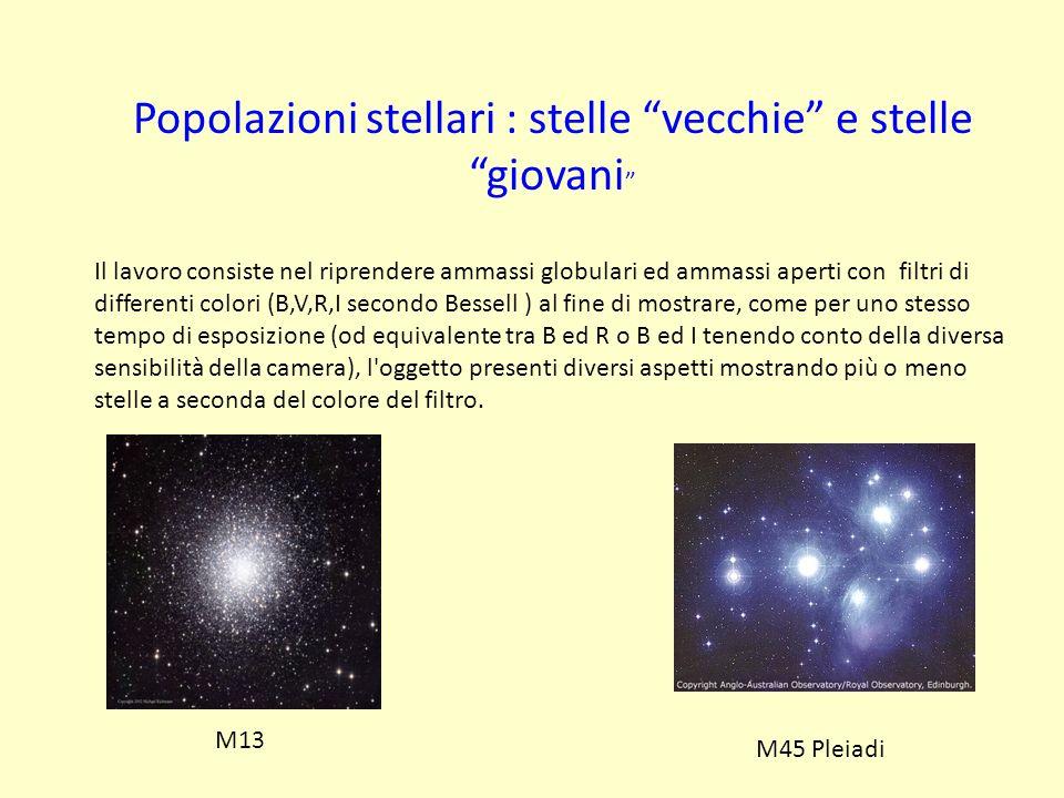 Popolazioni stellari : stelle vecchie e stelle giovani