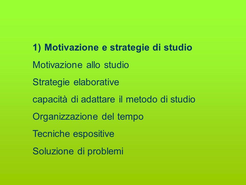 Motivazione e strategie di studio